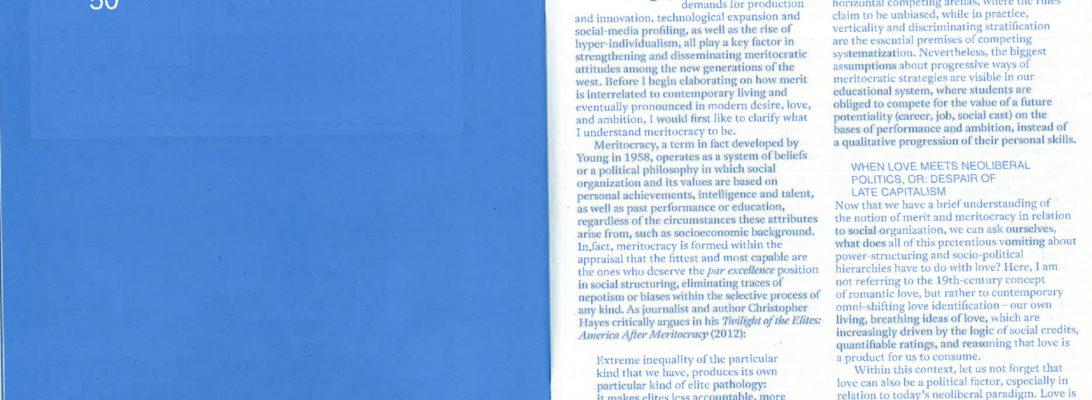 Love in the Age of Meritocracy, Simulacrum Journal, Andrea Knezovic